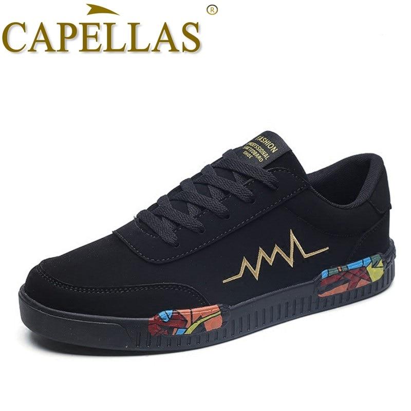 CAPELLAS Brand Men Casual Shoes New Fashion Flats Shoes Breathable Spring Autumn Men Shoes Wear Resitant Men`s Leather Shoes