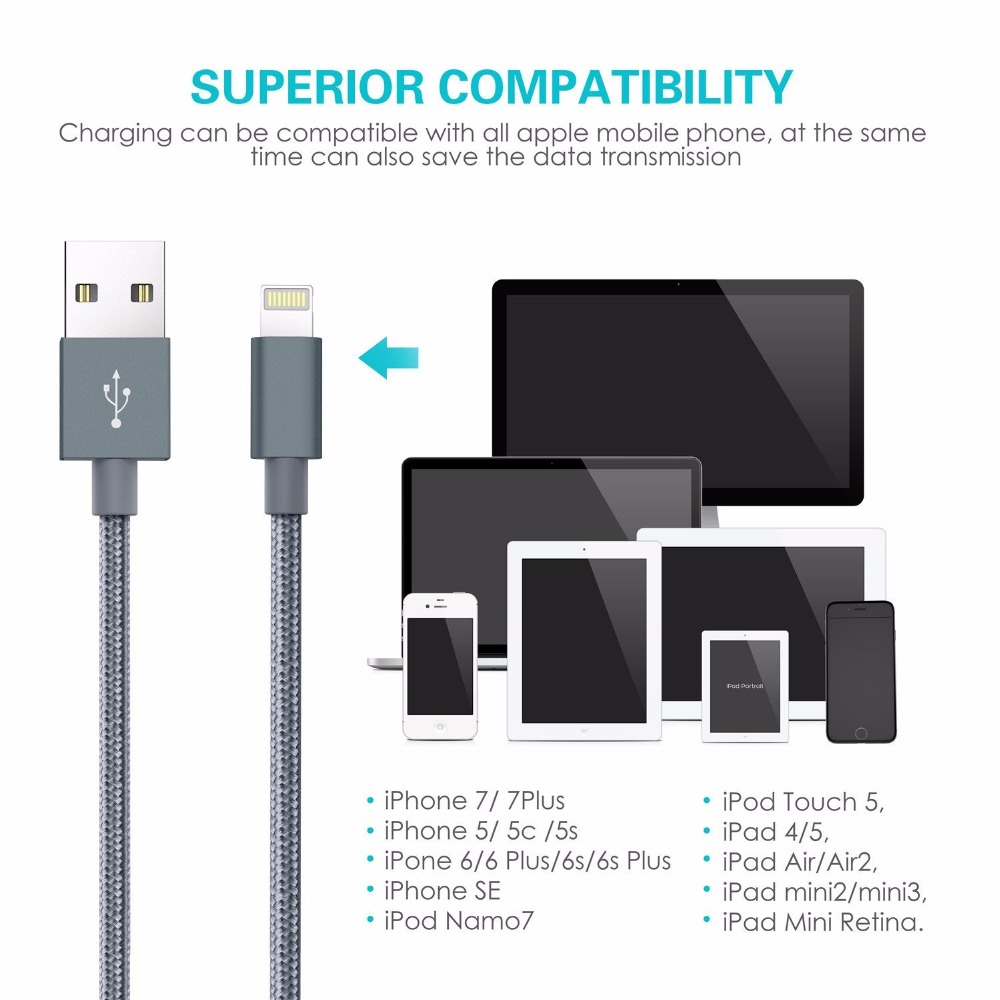3 in 1 For MFi Cable for iPhone 7 Fast Charger Cable for Samsung-in ...