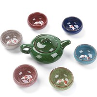 Riss glasur 3D fisch Kung Fu Tee-Set  Keramik Tee-Sets  Teetasse  ChineseTravel Teekanne  drink Kaffee & Tee-Sets  Binglie Teacups
