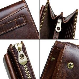 Image 5 - CONTACTS mężczyźni sprzęgła RFID prawdziwej skóry mężczyzna długi portfel dorywczo dużej pojemności wielu posiadacz karty portfele męskie porte carte torby