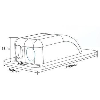 Impermeabile Doppio Passacavo Decoder Via Cavo Per I Pannelli Solari Moterhome Camper