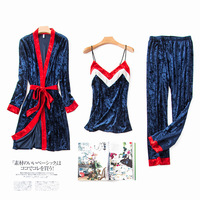 3pcs Sets Autumn And Winter Pyjamas Women Women Pajamas Set Warm Pajamas Warm Sleepwear 1511