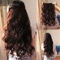EE.UU. STOCK Largo Clip ins Extensiones de cabello sintético 100% real Extensiones de cabello natural 3/4 completo la cabeza de Una Pieza ENVÍO LIBRE RÁPIDO
