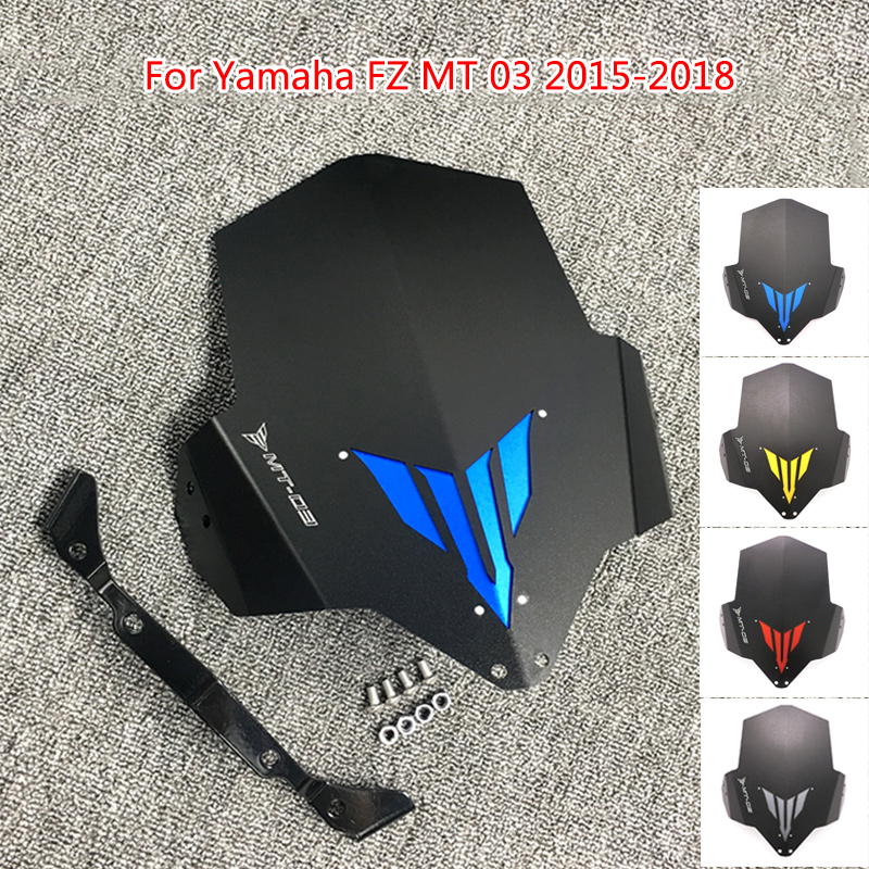 MT 03 FZ 03 MT 03 Motorcycle Upper Headlight Top Cover Windscreen Windshield For Yamaha FZ