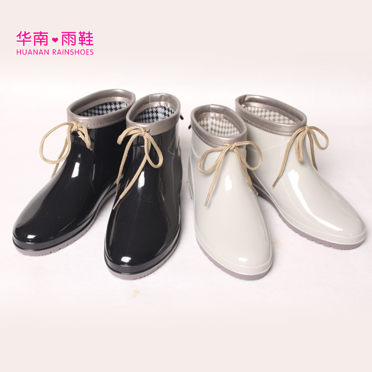 Decorative Duantong Spring boots low heel water shoes fashion boots rubber rain boots ankle rainboots rain boots women pvc prince waterproof high heel water shoes tall rain boots ankle gummis rain boots female rubber toe rainboots