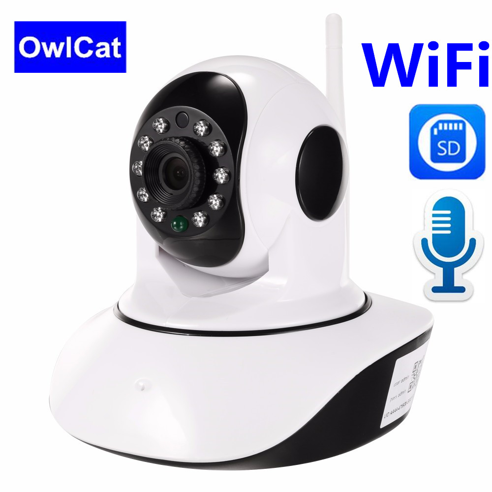 OwlCat HD 1080P Home Security Wireless IP Camera Two Way Audio SD Card Temperature Humidity Sensor CCTV WiFi Camera Baby MonitorOwlCat HD 1080P Home Security Wireless IP Camera Two Way Audio SD Card Temperature Humidity Sensor CCTV WiFi Camera Baby Monitor