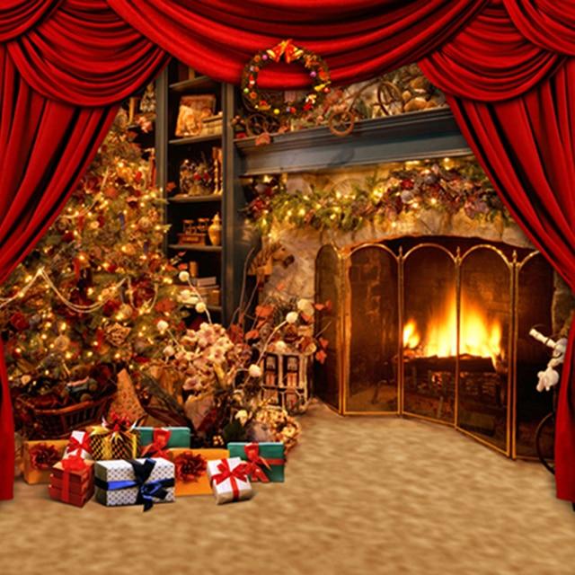 Aliexpress.com : Buy Fancy Xmas Tree Gold Fireplace Vintage ...