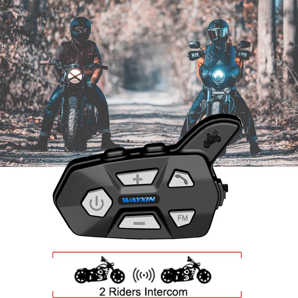 Motorcycle Helmet Headsets Bluetooth 2 Riders Long Range 1000 Meters Intercom Kits For Helmet Motorcycle Snowmobile Ski ATV