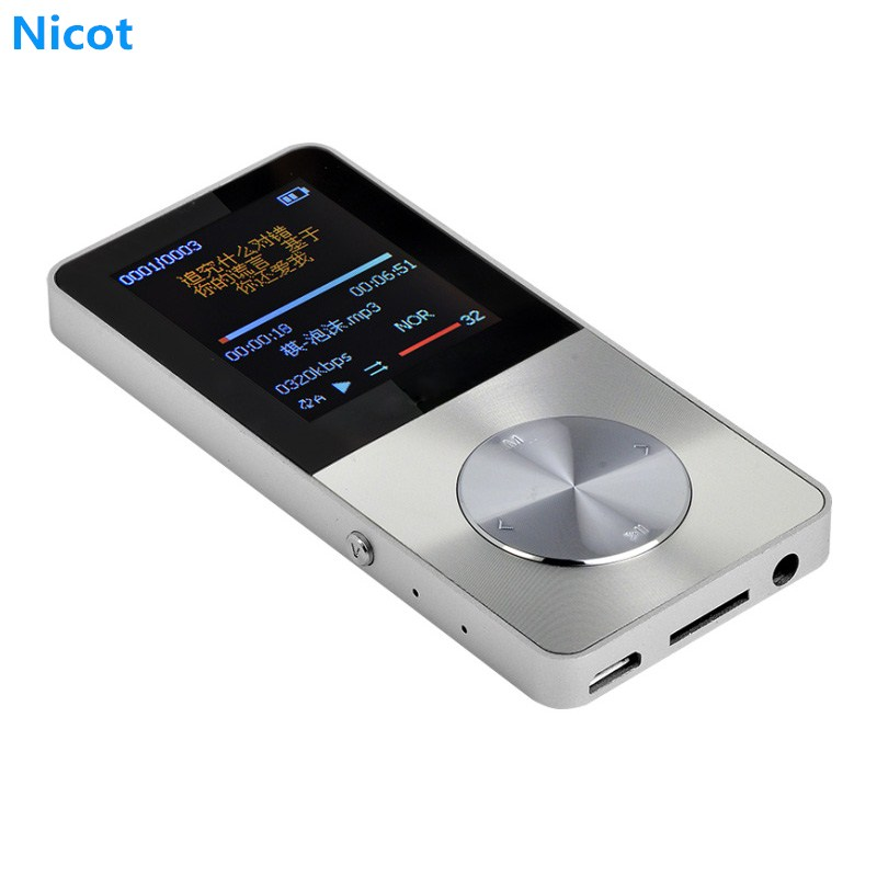 NICOT Portable HiFi Metal MP3 Player 16GB 8GB 4GB Mini USB Player with 30 hrs Play Speaker Screen Video FM Radio TF SD Card Slot portable mini mp3 vibration speaker w fm usb tf remote controller black page 4