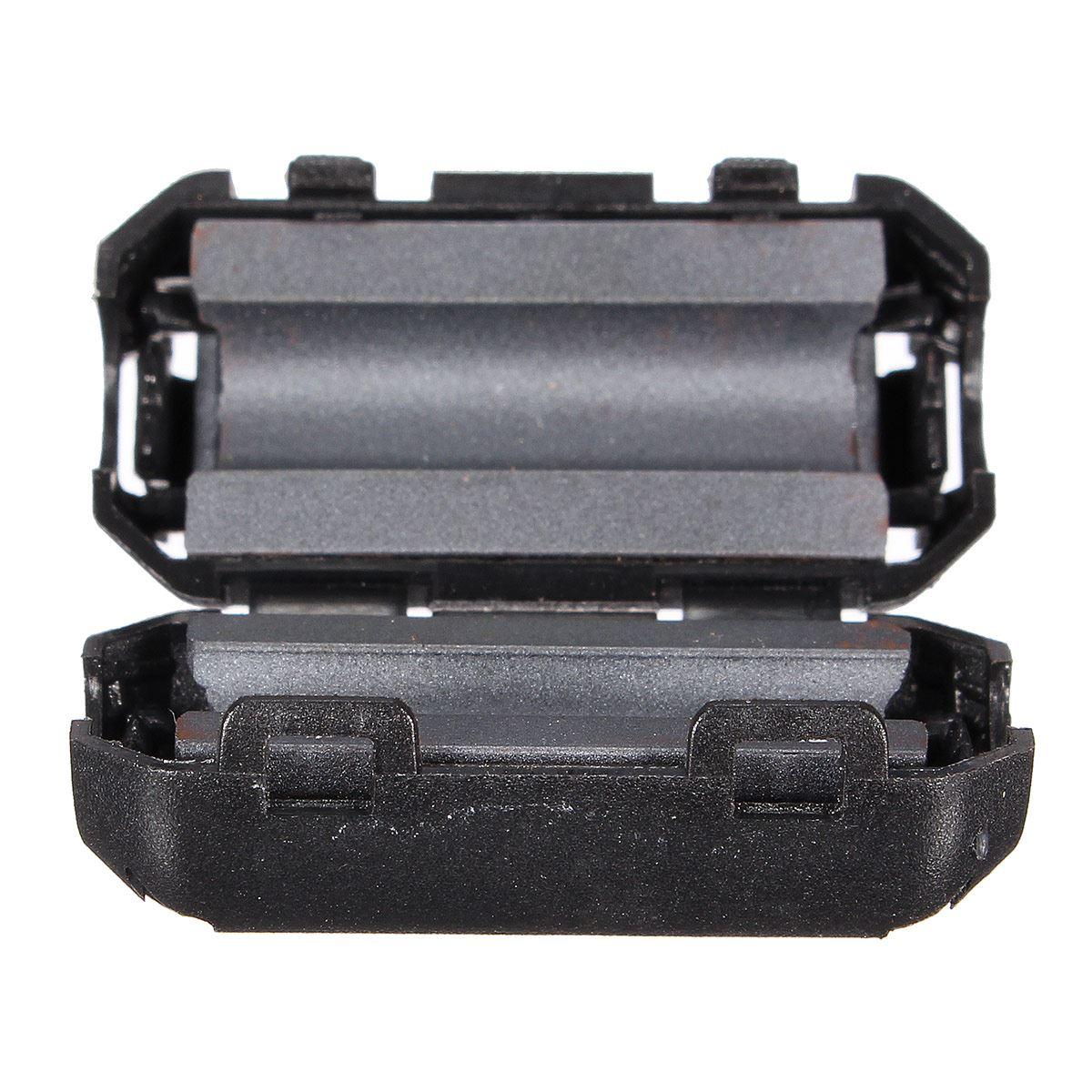 5 шт./лот черная пластиковая клипса на EMI RFI подавитель шума 5 мм кабель ферритовый сердечник фильтры съемные 25(L) x10(W) мм 5 мм