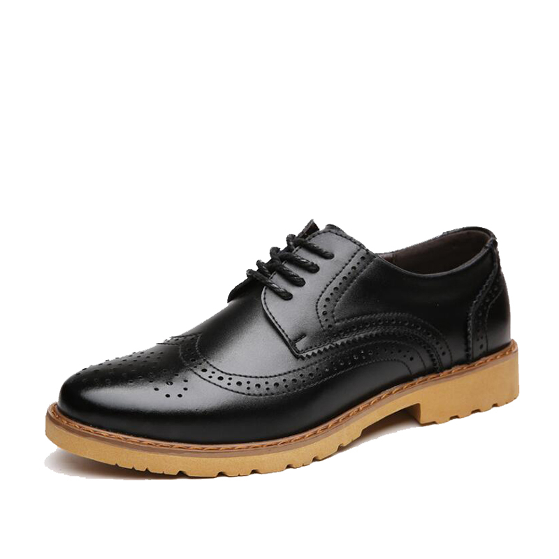 New 2016 Casual Shoes For Men Dress Shoes Genuine Leather Office Shoes Men Flats Ombre Black