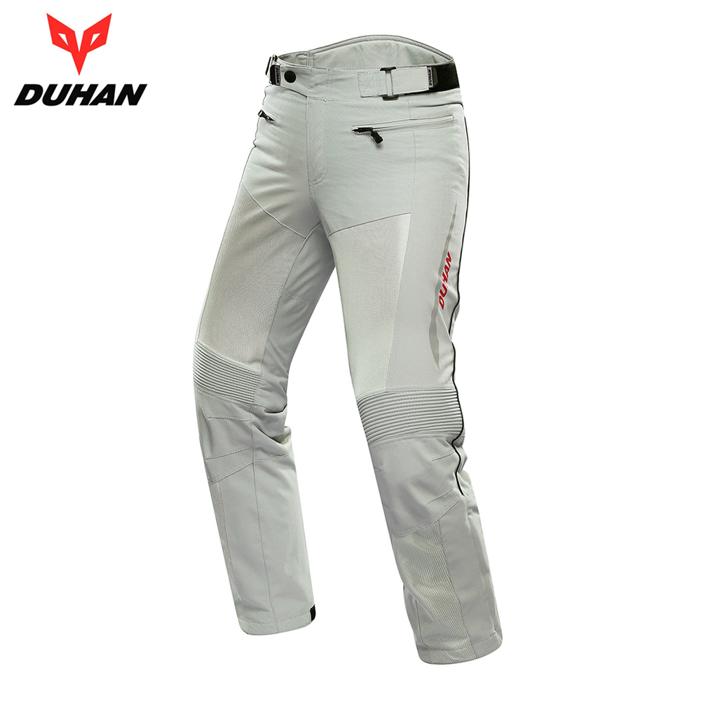 DUHAN Motorcycle Pants Men Breathable Moto Pants Trousers Protective Gear Riding Motorbike Motocross Pants for Spring Summer riding tribe men s motorcycle bikes slimming protective armor jackets motocross breathable cycling suits clothes with 6 pads