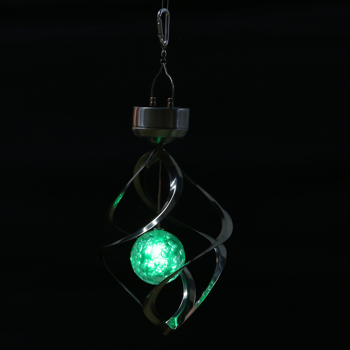 Solar Wind Chime LED Color Changing Hanging Light Decorative Solar Powered Wind Chime Spinner Light For Home Garden Decor