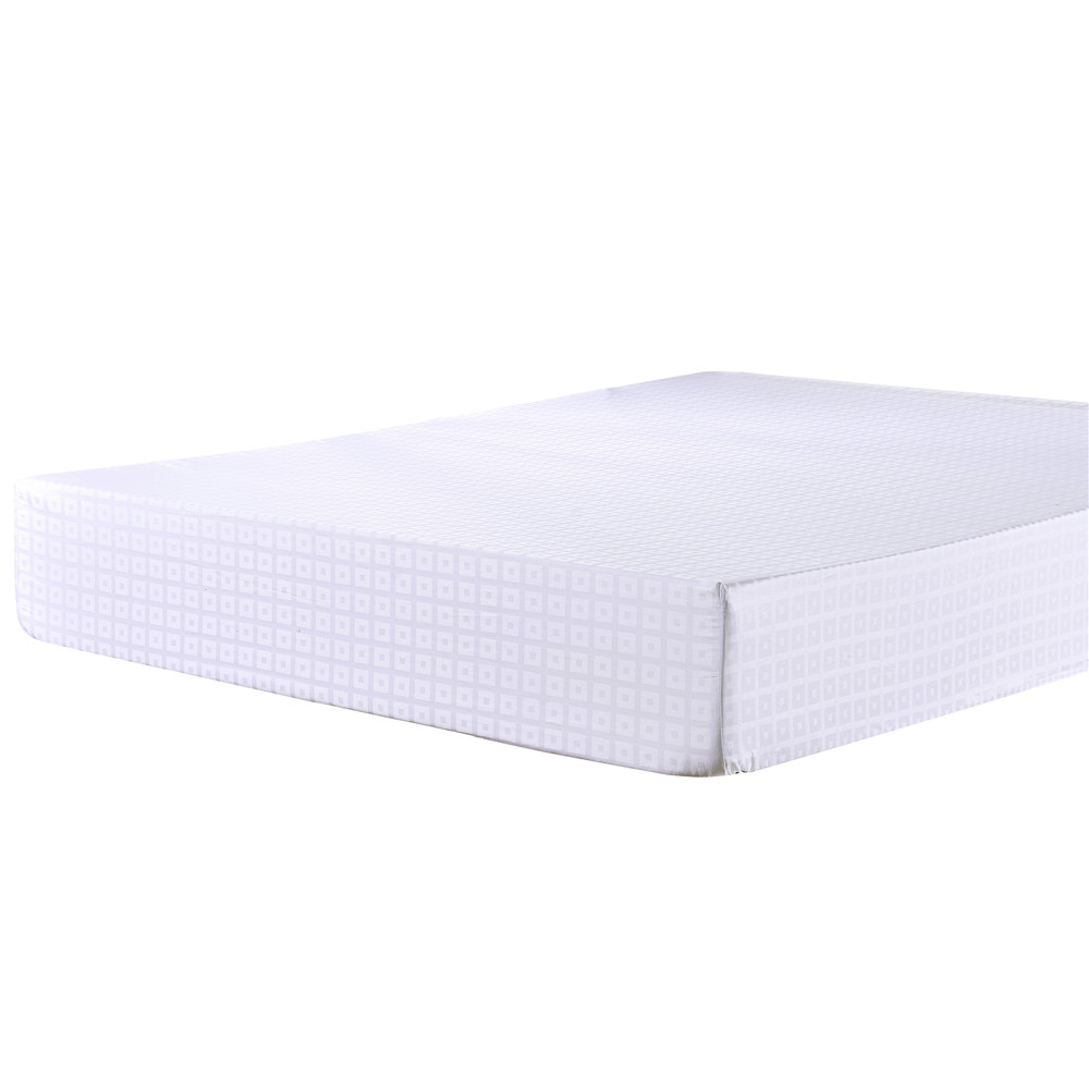 Double Bed 100 Us 25 96 100 Cotton White Solid Color Satin Grid Bedding Home Textiles For Double Bed Single High Density Fitted Sheet Bedspreads Soft In