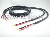 Бесплатная доставка Пара Ortofon 7NX SPK 4000Q Чистая медь audiophile КАБЕЛЬ колонки с банан разъем