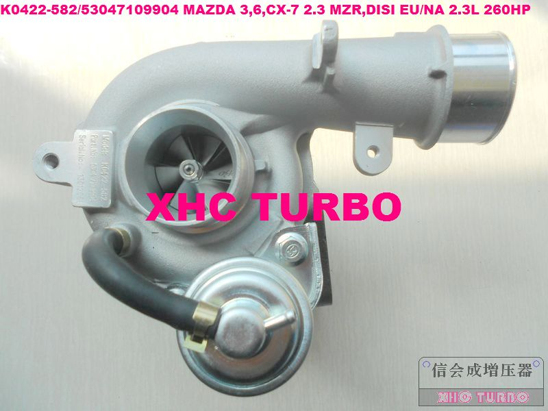 new k0422 582 53047109904 turbo turbocharger for mazda 3 6 cx 7 2 3 mzr disi eu na 2 3l 260hp. Black Bedroom Furniture Sets. Home Design Ideas