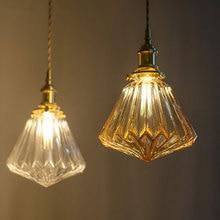 Стеклянный подвесной светильник, скандинавский подвесной светильник, медная лампа, латунный креативный минималистичный E27 прозрачный абажур, светильник для ресторана