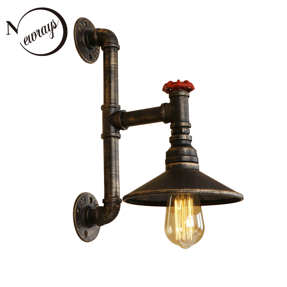 Vintage creative iron minimalist wall Lamp LED E27 220V lustre Wall Light for living room bedroom hallway restaurant dining room