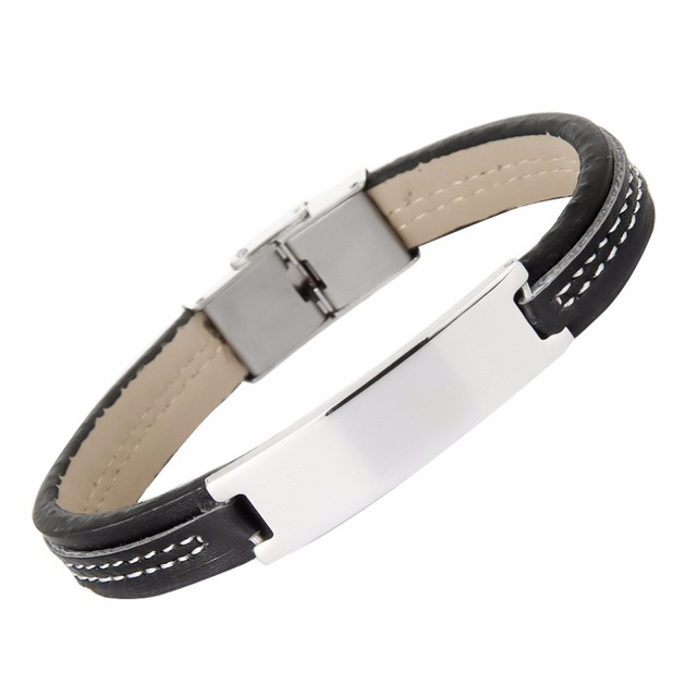 Handgefertigte leder armband titanium stahl liebe armbänder ...