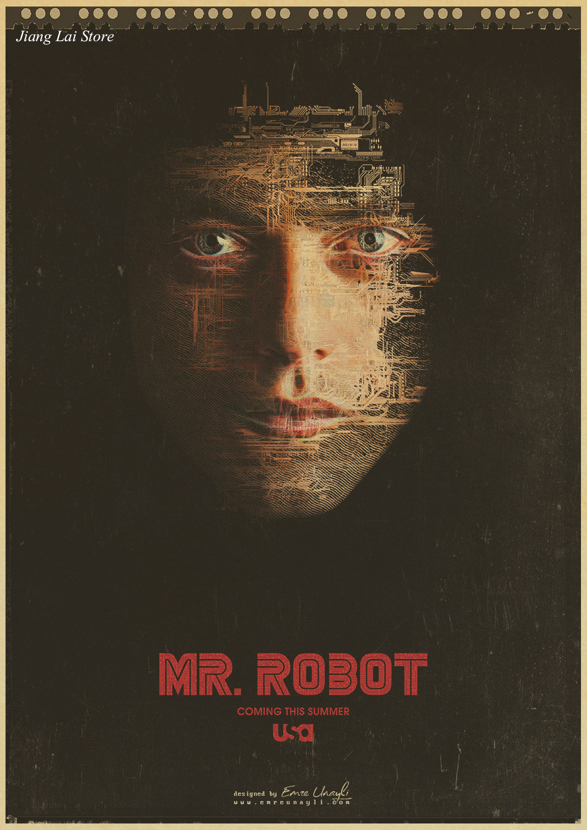 Mr robot TV movie hot film kraft paper retro Poster vintage paintings home decor