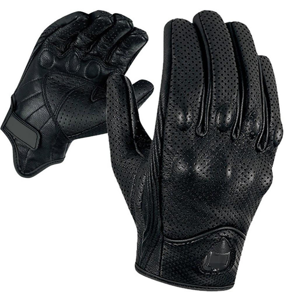 Motorcycle Full Finger Leather Gloves Touchscreen Breathable Windproof Protective Gear for Outdoor Racing Motocross GlovesMotorcycle Full Finger Leather Gloves Touchscreen Breathable Windproof Protective Gear for Outdoor Racing Motocross Gloves