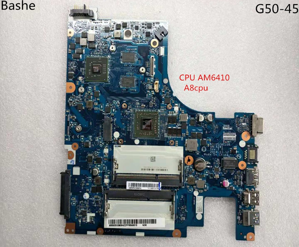 Base plate for Lenovo laptop computer G50   45 motherboard AMD  am6410 A8 MB aclu5 aclu6 nm to 15 inches a281 complete tesed-in Laptop Motherboard from Computer & Office