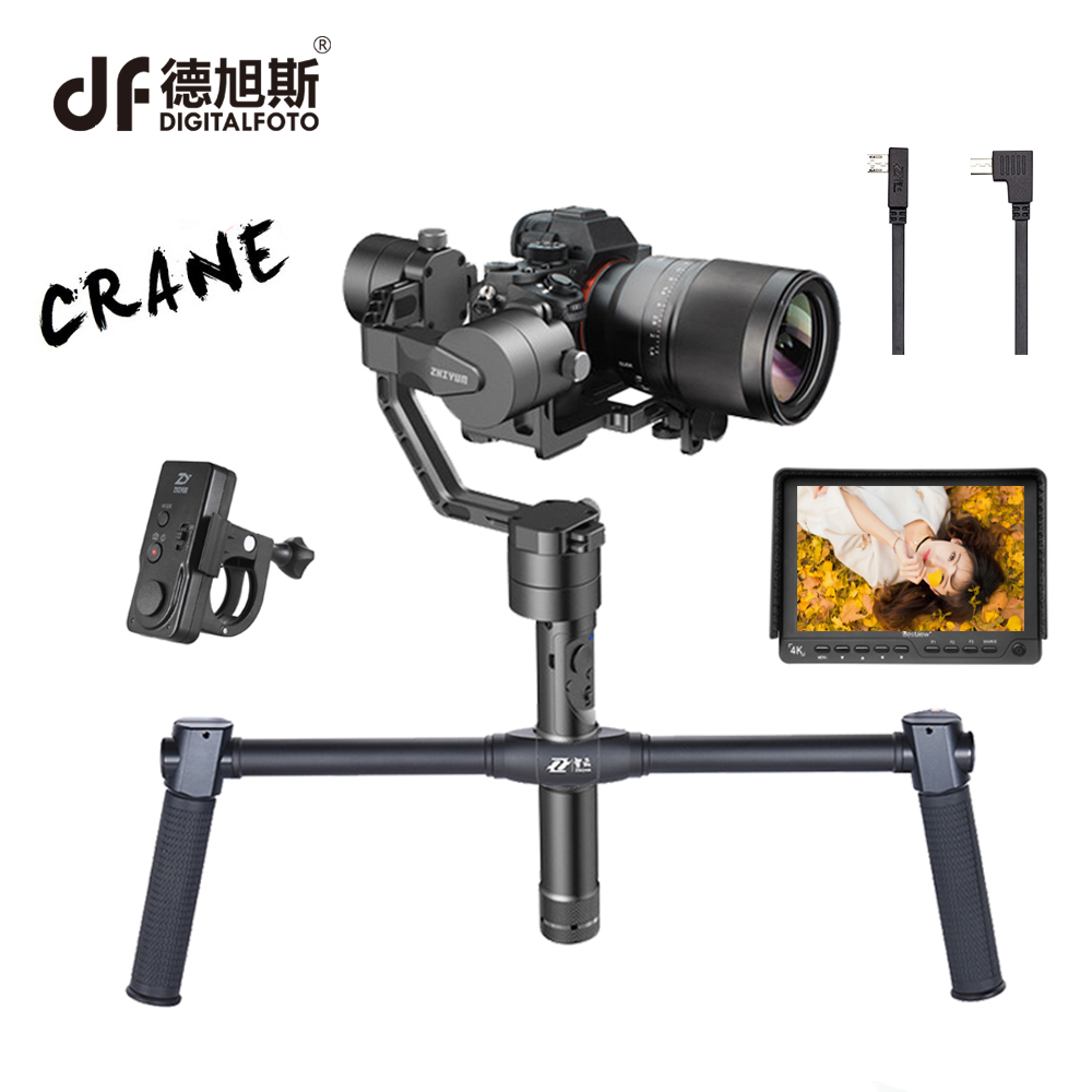 DIGITALFOTO ZHIYUN New Crane professional Handheld 1.8KG bear 3-Axis DSLR camera Stabilizer gimbal steadicam for Nikon Sony professional dv camera crane jib 3m 6m 19 ft square for video camera filming with 2 axis motorized head