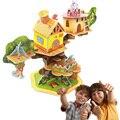 Mais recente DIY 3D Casa na Árvore Animais Enigma Brinquedos Modelo Crianças Adulto Construção de Brinquedos Educativos de Construção Criativa Dos Desenhos Animados Engraçado
