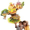 Newest DIY 3D Animal Tree House Puzzle Model Toys Children Adult Cartoon Building Educational Toys  Construction Creative Funny
