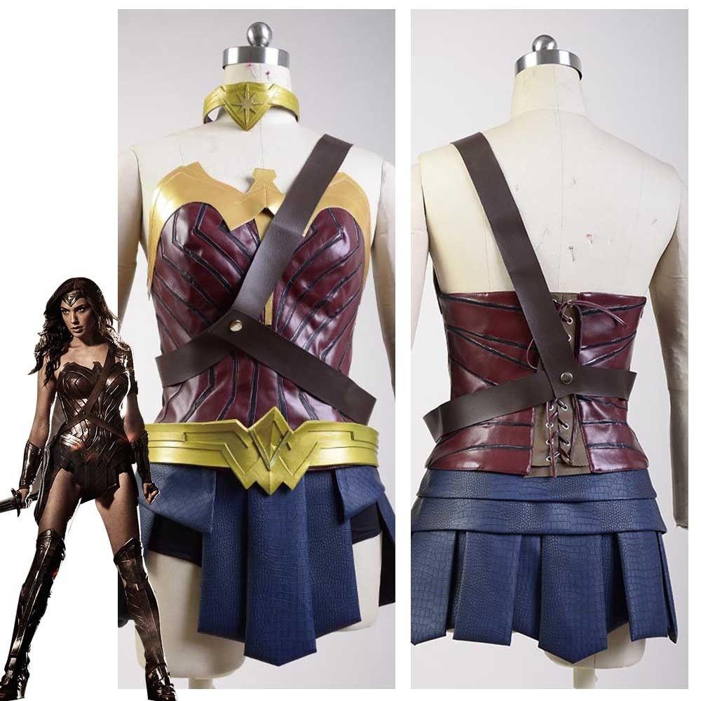 Batman v Superman Dawn of Justice Cosplay Costume League Diana Prince Wonder Woman Dress Halloween Carnival Cosplay Costume