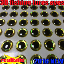 2015new 3D fishing lure eyes fly choose size:4MM---10MM quantity:500pcs/lot color: gold