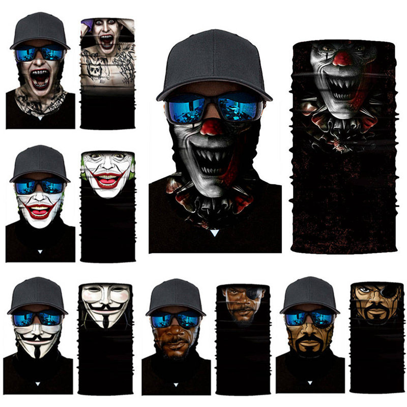 Home Logical Men Women Multi Functional Bandana Headband Cycling Outdoor Sport Camouflage Balaclava Tubular Seamless Magic Scarf Biker Mask