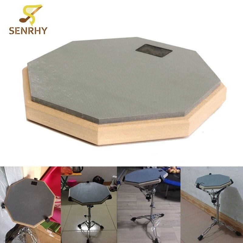 8 pouce En Caoutchouc En Bois Débutant Tambour Pratique Tampons Silencieux Pour Débutant Tambour Calme Formation Tambour Pad Percussion Instruments