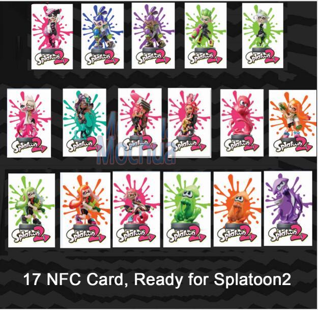 17 sztuk Karta Amiibo Karta NFC dla Splatoon 2 Inkling Girl, Inkling - Bezpieczeństwo i ochrona - Zdjęcie 3