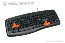 free shipping Newmen KB-835 Wired Keyboard water wash gaming keyboard home office desktop computer USB keyboard