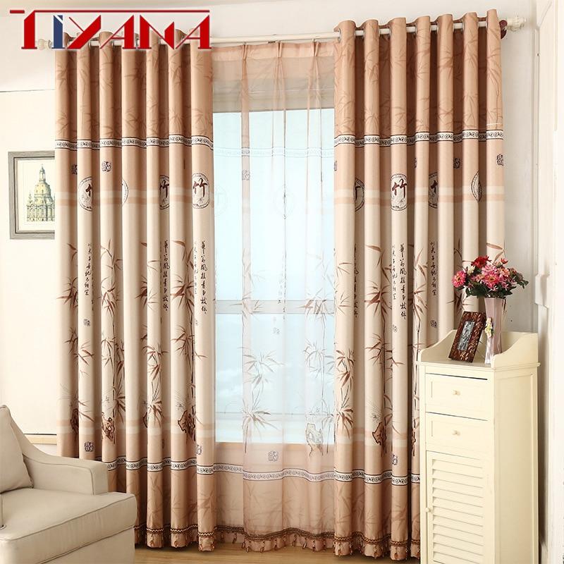 Chinesische Bambus Design Vorhange Vorhange Fur Wohnzimmer Sheer