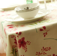 Hot Sale Korean Style Plaid Floral Table Cloth For Home Hotel Wedding Party Coffee Restaurant Table