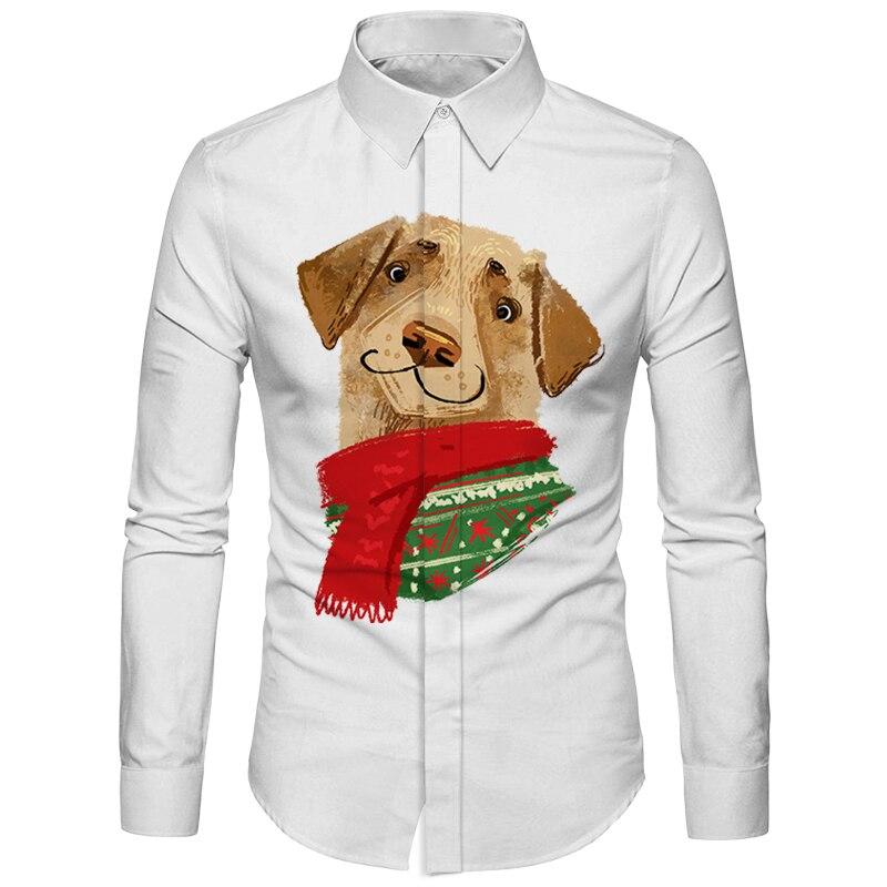 Men's Clothing Cloudstyle New Design Fashion Mens Shirts 3d Printed Bulldog Wear A Glasses Animal Dog Streetwear Camisa Masculina Social Shirt