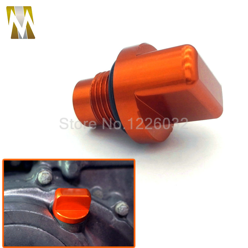 Listing Motorcycle Orange Accessories CNC Aluminum Engine Magnetic Oil Drain Plug For KTM DUKE 125/200/390