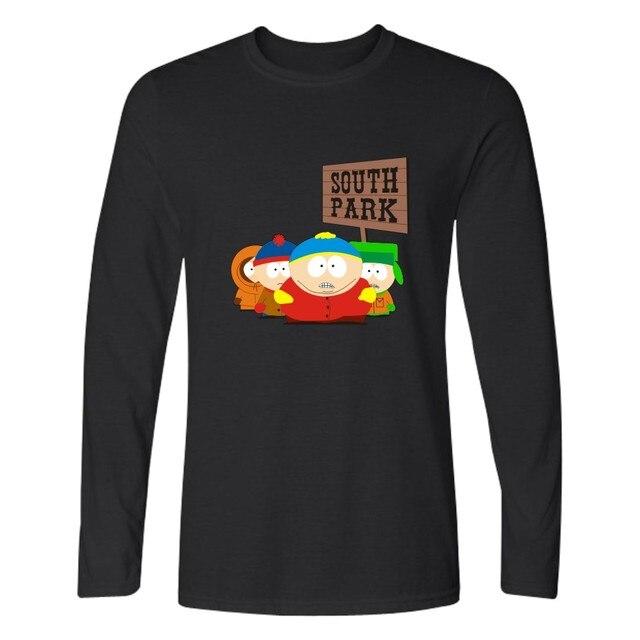 2017 Desenhos Animados Outono Sitcoms South Park T Shirt Dos Homens de Manga Longa camisetas e ERIC Cartman T-shirt de Algodão Sólidos Camiseta 3xl 4xl