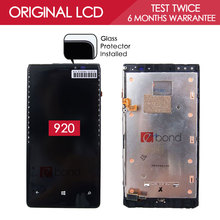 100% Tested Original Black IPS 1280×768 Display For NOKIA Lumia 920 LCD Touch Screen Digitizer with Frame Assembly