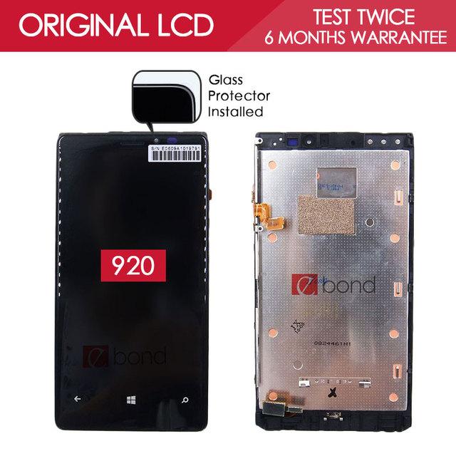 100% testado original preto ips 1280x768 exibição para nokia lumia 920 lcd touch screen digitador com a montagem do quadro