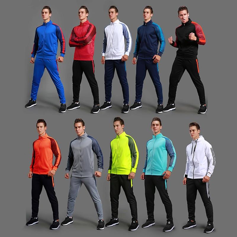 Soccer Jacket Soccer Pants Training Suit Soccer Match Appearance coat Long Sleeve Sportswear Soccer Sets Running