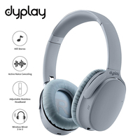 Active Noise Canceling Headphones Wireless Bluetooth Earphones With Case Box Over Ear Headset With Microphone For Cell Phones