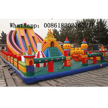 2016 commercial PVC inflatable slide outdoor playground bouncer with high quality for sale