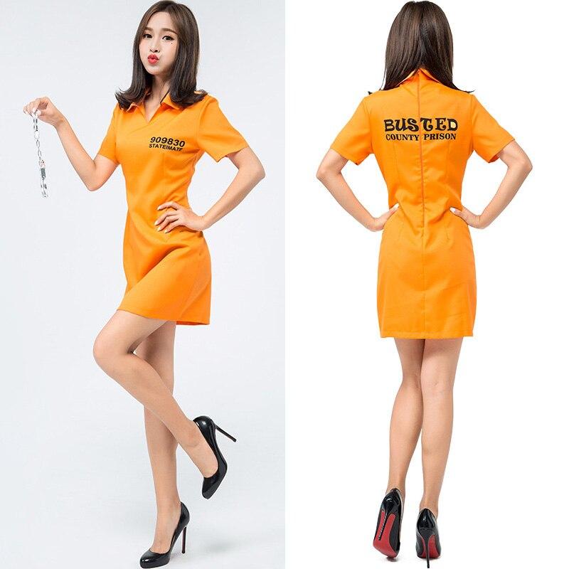 ADULT WOMENS JAIL CONVICT CRIMINAL PLUS SIZE FANCY DRESS HALLOWEEN GAOL COSTUME
