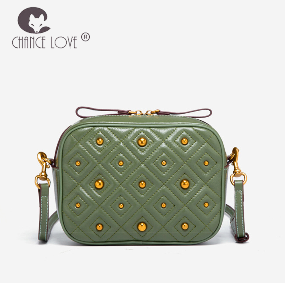Chance Love bags for women 2018 female bag diamond square small package Genuine leather women's handbags shoulder Messenger bag chance love bag female women 100