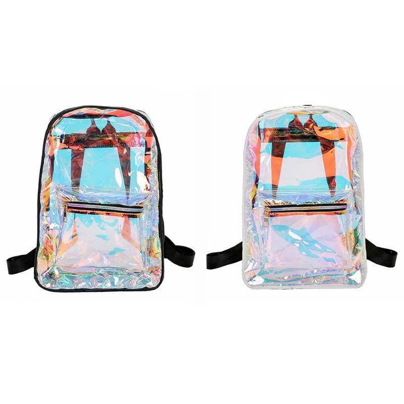 MOJOYCE Transparent Holographic Backpacks Korean Style Small Backpack For  Girls Shining Hologram Shoulder bags Mochilas Feminina