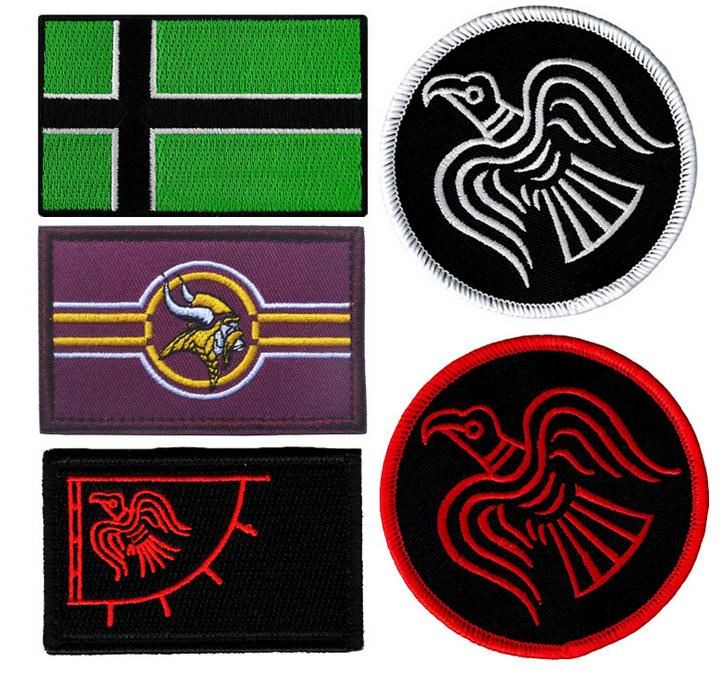 Music Memorabilia Rock & Pop 50 Pcs Cross Medical Patch Morale Tactical Patches Hook & Loop Embroidery Badge Military Army Armband Badge 2.5*2.5cm Wholesale