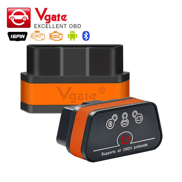 Vgate iCar2 ELM327 Bluetooth OBD 2 Scanner iCar 2 wifi mini elm 327 obd2 Diagnose-tool adapter voor android/PC/IOS code reader